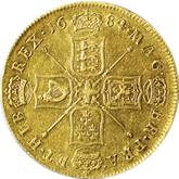 イギリス チャールズ2世  金貨【裏面】