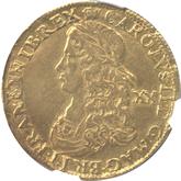 イギリス チャールズ2世  ユナイト(2ギニー)金貨[F/VF]