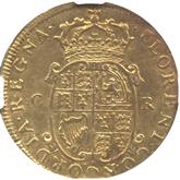 イギリス チャールズ2世  ユナイト(2ギニー)金貨[F/VF]【裏面】