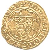 イギリス  エドワード3世  1/4ノーブル金貨[VF]