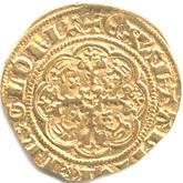 イギリス  エドワード3世  1/4ノーブル金貨[VF]【裏面】
