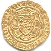 イギリス  エドワード3世  1/4ノーブル金貨[F+]
