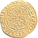 イギリス  エドワード3世  1/4ノーブル金貨[F+]【裏面】