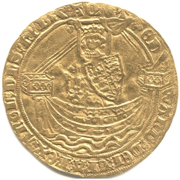 エドワード3世ノーブル金貨のデザイン(表面)