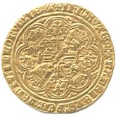 イギリス  エドワード3世  ノーブル金貨[F]【裏面】