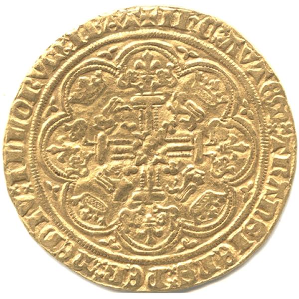 エドワード3世ノーブル金貨のデザイン(裏面)
