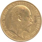 イギリス エドワード7世 5ポンド金貨[Matt PF VF]