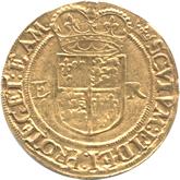 イギリス エリザベス1世  1/2ポンド金貨[VF+]【裏面】