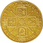 イギリス ジョージ1世  金貨【裏面】