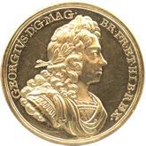 イギリス ジョージ1世 戴冠記念金メダル[AU/UNC]