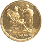 イギリス ジョージ1世 戴冠記念金メダル[AU/UNC]【裏面】