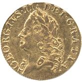 イギリス ジョージ2世  1ギニー金貨  オールドヘッド[VF]