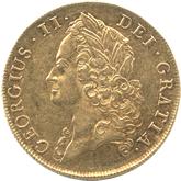 イギリス ジョージ2世  2ギニー金貨  オールドヘッド[-EF]