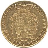 イギリス ジョージ2世  2ギニー金貨  オールドヘッド[-EF]【裏面】