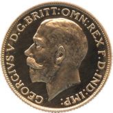 イギリス ジョージ5世 1ソボレン金貨[PF UNC]