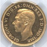 イギリス ジョージ6世 1ソボレン金貨[PF UNC+]