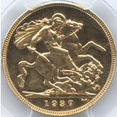 イギリス ジョージ6世 1ソボレン金貨[PF UNC+]【裏面】