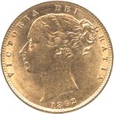 イギリス ヴィクトリア女王 1ソボレン金貨[AU/UNC]