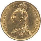 イギリス ヴィクトリア女王 2ポンド金貨 ジュビリーヘッド[AU/UNC]