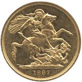 イギリス ヴィクトリア女王 2ポンド金貨 ジュビリーヘッド[AU/UNC]【裏面】