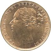 イギリス ヴィクトリア女王 1ソボレン金貨[EF+/UNC]