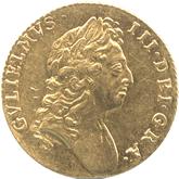 イギリス ウィリアム3世 1ギニー金貨[EF+]