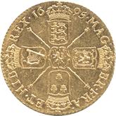 イギリス ウィリアム3世 1ギニー金貨[EF+]【裏面】
