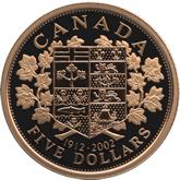 カナダ エリザベス2世 5ドル金貨[PF FDC]【裏面】