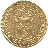フランス ルイ14世 1ルイドール金貨[EF]【裏面】