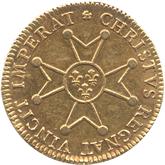 フランス ルイ15世 ルイドール金貨[VF]【裏面】