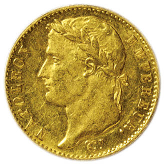 フランス ナポレオン1世  20フラン金貨(百日天下)[AU]