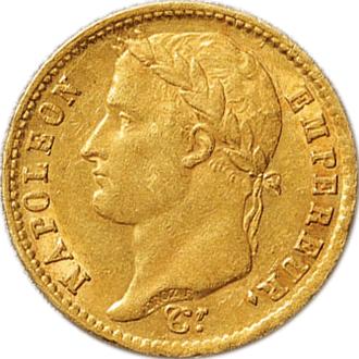フランス ナポレオン1世  20フラン金貨(共和国タイプ)[EF]