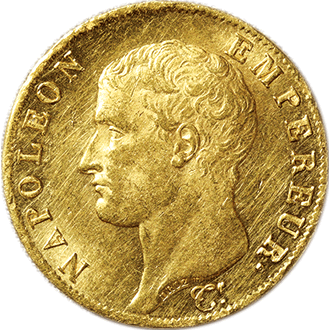 フランス ナポレオン1世  40フラン金貨[AU/UNC]