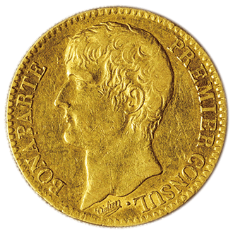 フランス ナポレオン1世  40フラン金貨[VF]