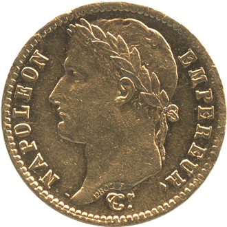 フランス ナポレオン1世  20フラン金貨[UNC+]