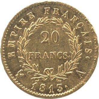 フランス ナポレオン1世  20フラン金貨[UNC+]【裏面】