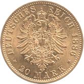ドイツ ザクセン・コブルグ・ゴータ 20マルク金貨 エルンスト2世[[UNC]【裏面】