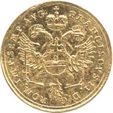 ドイツ レーゲンスブルグ 1ダカット金貨 フランツ2世 都市景観[EF]【裏面】