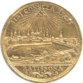ドイツ レーゲンスブルグ 1ダカット金貨 フランツ1世 都市景観[VF]