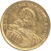 ドイツ レーゲンスブルグ 1ダカット金貨 フランツ1世 都市景観[VF]【裏面】
