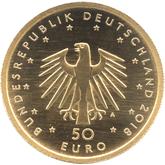ドイツ コントラバス 50ユーロ金貨[UNC]【裏面】