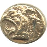 古代ギリシャ エレクトロン1/6ステーター金貨 グリフォン頭像[VF]