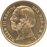 オランダ ウィルヘルム3世  20グルデン金貨[PF UNC]