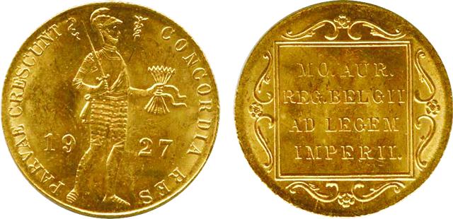 オランダ1ダカット金貨 ウィルヘルミナ1世騎士立像 貿易金貨