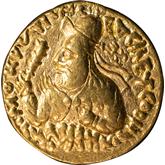 クシャン朝 第三代君主ヴィマ・カドフィセス  ディナール金貨[VF]