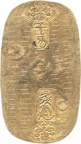 日本 元文小判金  裏刻印:五五  日本貨幣商協同組合鑑定書付[EF]