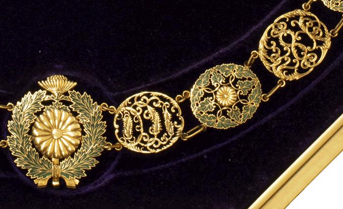 大勲位菊花章頸飾 4種のデザイン