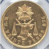 メキシコ 20ペソ金貨[AU/UNC]【裏面】