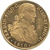 メキシコ  フェルディナンド7世 8エスクード金貨[EF+]