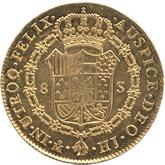 メキシコ  フェルディナンド7世 8エスクード金貨[EF+]【裏面】